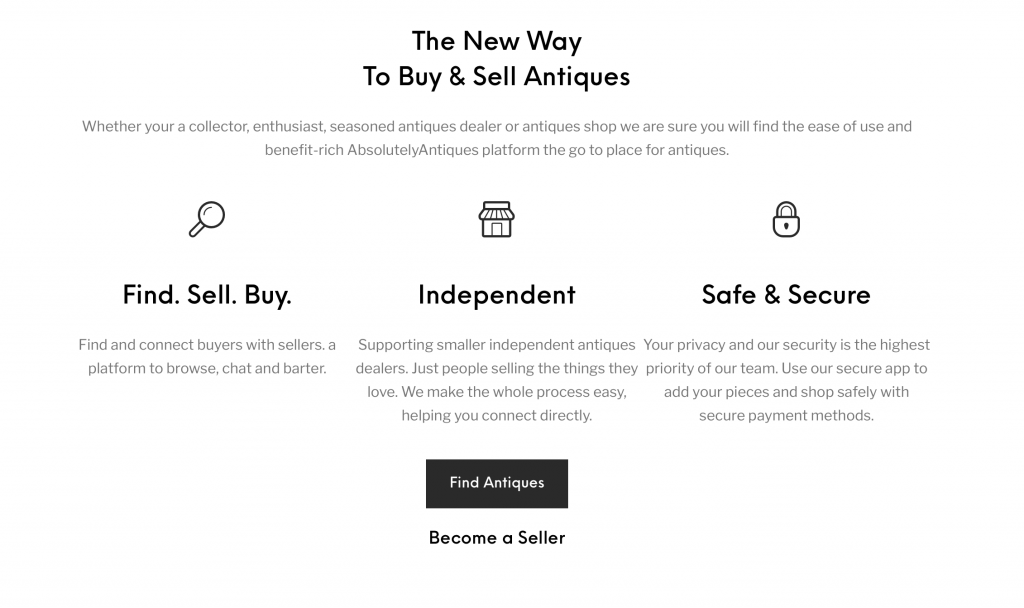 a new way to buy and sell antiques online